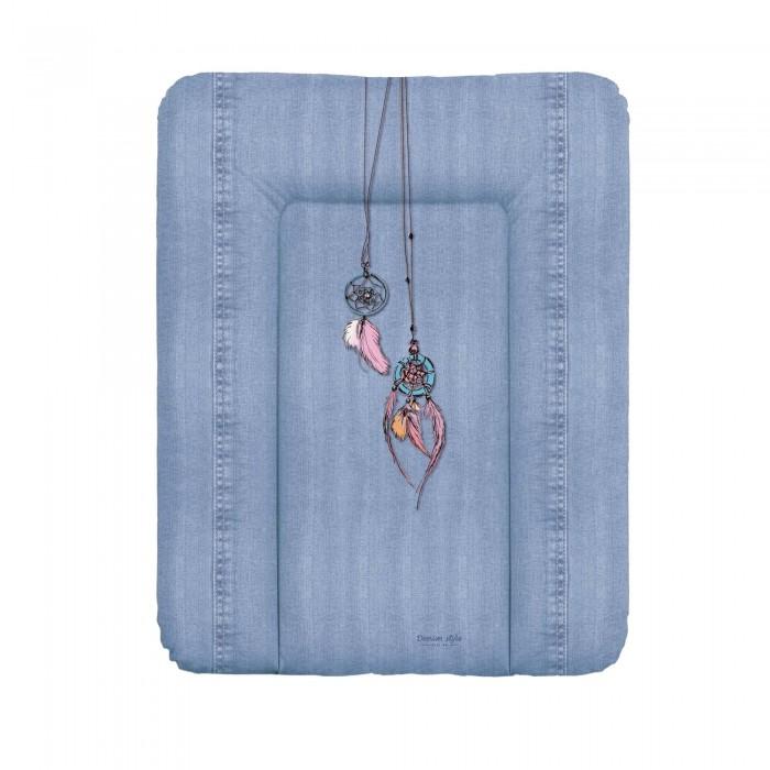 Накладки для пеленания Ceba Baby Матрас пеленальный мягкий на комод Denim Style 70x50 см