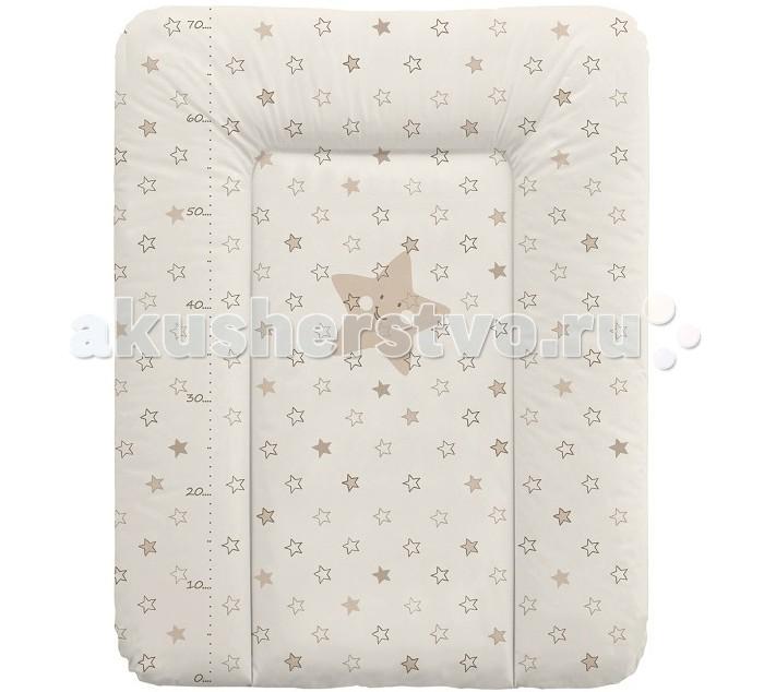 Купить Накладки для пеленания, Ceba Baby Матрас пеленальный мягкий Stars 70х50 см