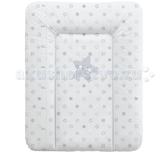 Накладки для пеленания Ceba Baby Матрас пеленальный мягкий Stars 70х50 см