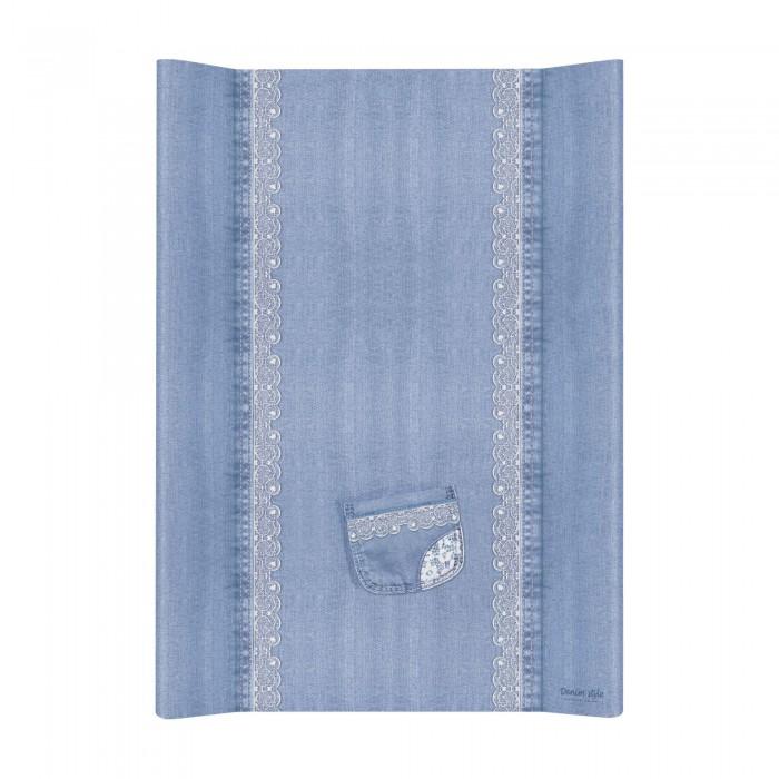 Купить Накладки для пеленания, Ceba Baby Матрас пеленальный на жестком основании без изголовья Denim Style 70 см