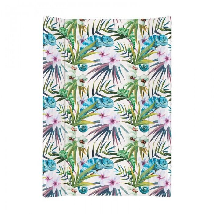 Купить Накладки для пеленания, Ceba Baby Матрас пеленальный на жестком основании без изголовья Flora & Fauna 70 см