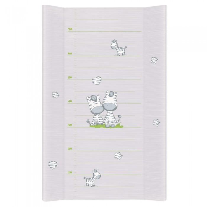 Купить Накладки для пеленания, Ceba Baby Матрас пеленальный на жестком основании без изголовья Zebra 80 см