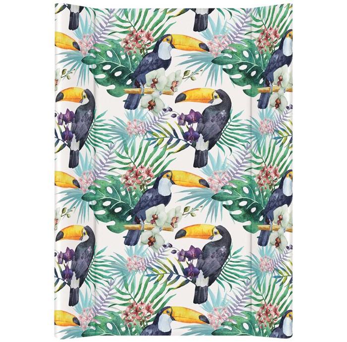 Накладки для пеленания Ceba Baby Пеленальный матрас без изголовья мягкий Flora Fauna 70х50 см