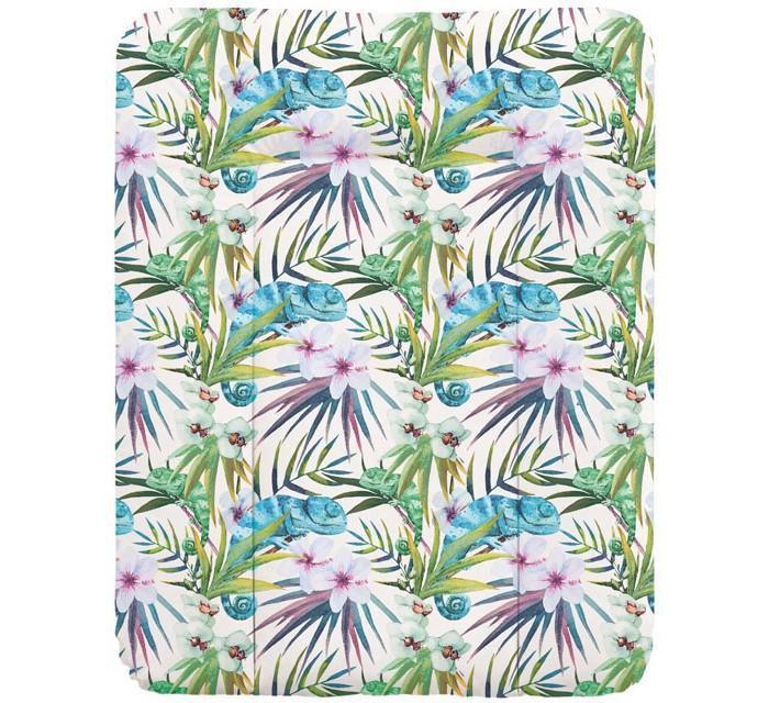 Купить Накладки для пеленания, Ceba Baby Пеленальный матрас мягкий Flora & Fauna 70х50 см