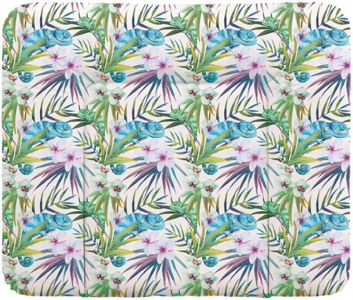 Накладки для пеленания Ceba Baby Пеленальный матрас мягкий Flora Fauna 70х85 см
