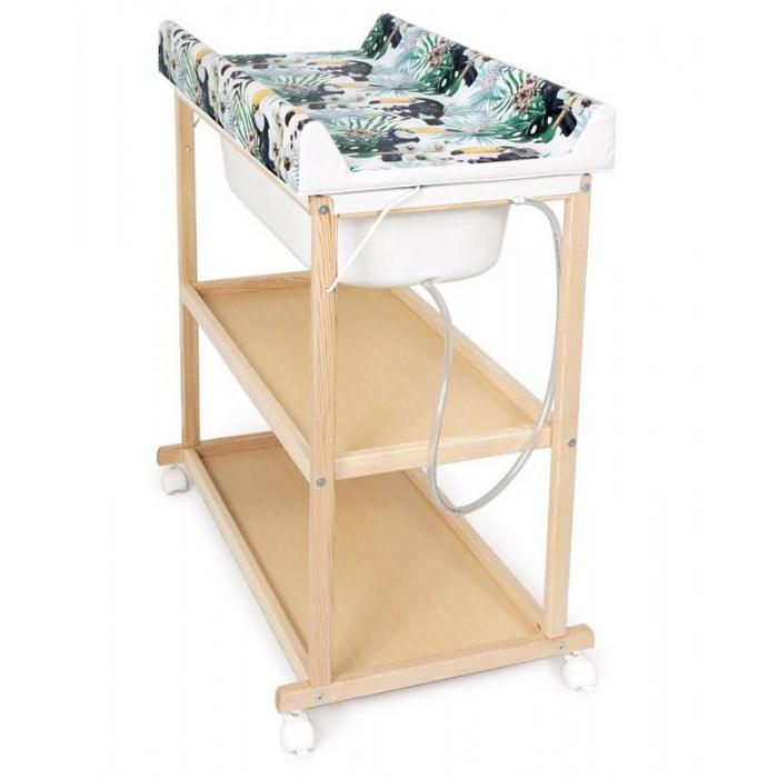 Пеленальный столик Ceba Baby Laura матрасик Flora & Fauna