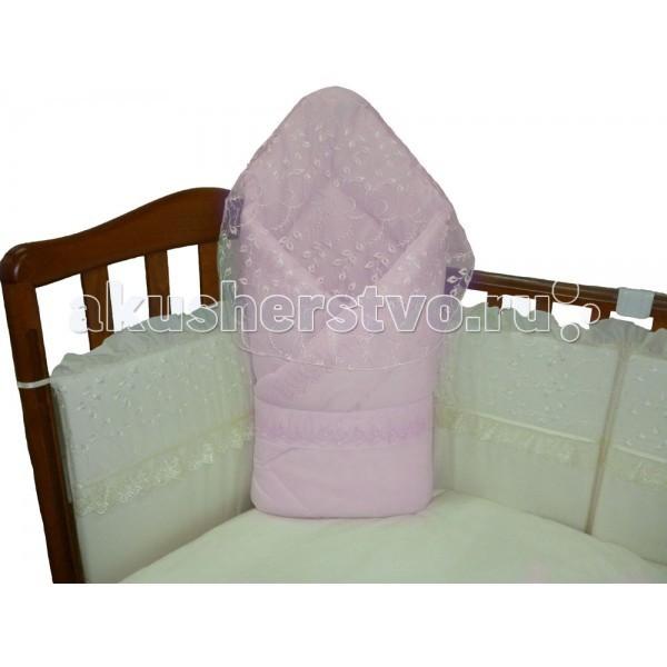 Ceba Baby Конверт на выписку AlbaКонверт на выписку AlbaКонверт-одеяло для младенца на выписку Alba. Он украшен красивыми рюшечками по всему периметру.  Отлично подходит для того, чтобы забрать малыша из роддома или для прогулки в коляске.  Состав: 100% высококачественный хлопок.   Наполнитель: холлофайбер антиаллергенный.<br>