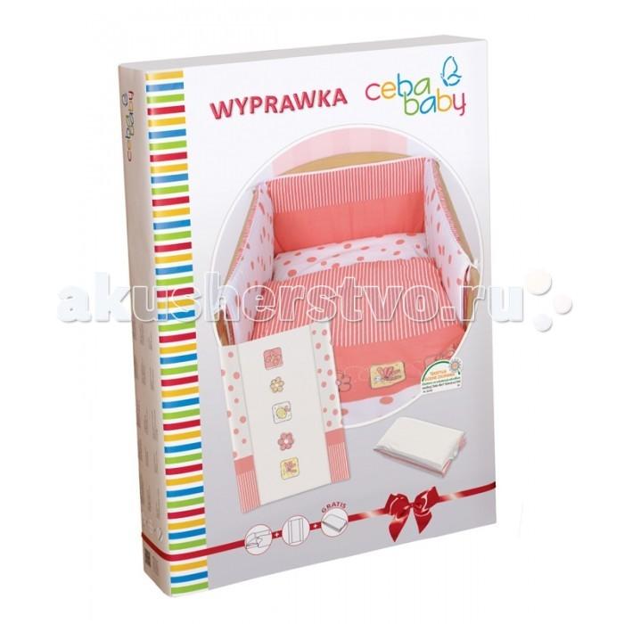 Комплект в кроватку Ceba Baby Layette Peas (5 предметов)Layette Peas (5 предметов)Комплект для кроватки Ceba Baby Layette Peas – это качественный и нарядный текстильный комплект в кроватку, дополненный двумя пеленальными матрасиками, один из которых станет незаменимым помощником дома, а второй удобно брать с собой в дорогу. Постельное бельё выполнено из 100% хлопка, нежного и приятного для детской кожи, и украшено вышивкой или принтом.   Набор упакован в нарядную коробку и может стать отличным подарком молодым родителям на рождение малыша.   Комплект постельного белья: пододеяльник 100х135 см;  наволочка 40х60 см;  мягкий бортик 200х32 см.   Пеленальный матрасик на жёстком основании:  двубортный пеленальный матрас на жёстком основании;  размер: 50х70 см;  жёсткое основание со специальными ограничителями позволяет использовать матрасик на кроватках 120х60 см;  обивка матрасика выполнена из высококачественного клеёнчатого материала, сертифицированного в соответствии со стандартом безопасности, что гарантирует отсутствие вредных токсичных веществ и полную безопасность для нежной детской кожи.   Дорожный пеленальный матрасик:  мягкий пеленальный матрас, который удобно брать с собой в дорогу;  размер: 40х60 см;  позволит с комфортом перепеленать малыша во время длительного путешествия, долгой прогулки или шоппинга;  легко и компактно складывается.<br>