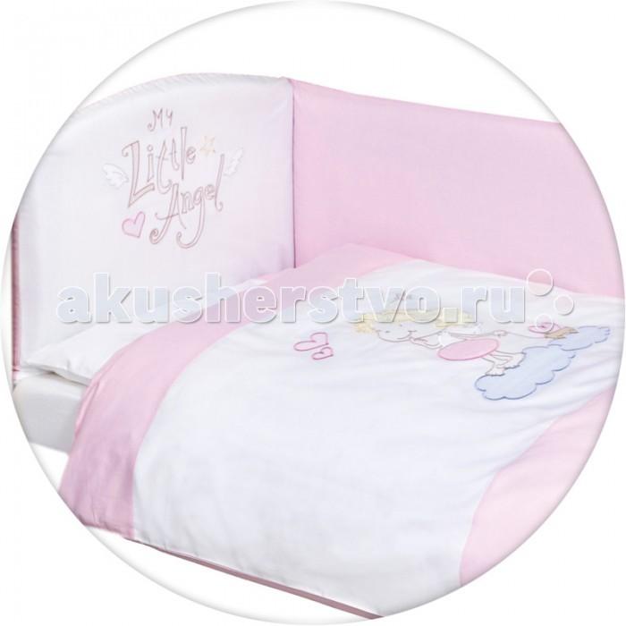 Постельное белье Ceba Baby Little Angel с вышивкой (3 предмета)Little Angel с вышивкой (3 предмета)Постельное белье Ceba Baby Little Angel с вышивкой (3 предмета) отвечает самым высоким стандартам качества.  Особенности: комплект постельного белья для детской кроватки;  ткань: 100% хлопок;  комплект украшен нарядной вышивкой;  чехол бортика – съёмный на молнии, разрешена машинная стирка в деликатном режиме;  все используемые материалы сертифицированы в соответствии с Oeko-Tex® 100, класс I (текстильные изделия для детей).   В комплект входят:  пододеяльник 100х135 см;  наволочка 40х60 см;  мягкий бортик 200х32 см.<br>