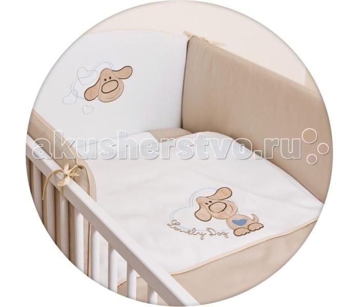 Постельное белье Ceba Baby Lovely Dog с вышивкой (3 предмета)Lovely Dog с вышивкой (3 предмета)Постельное белье Ceba Baby Lovely Dog с вышивкой (3 предмета) отвечает самым высоким стандартам качества.  Особенности: комплект постельного белья для детской кроватки;  ткань: 100% хлопок;  комплект украшен нарядной вышивкой;  чехол бортика – съёмный на молнии, разрешена машинная стирка в деликатном режиме;  все используемые материалы сертифицированы в соответствии с Oeko-Tex® 100, класс I (текстильные изделия для детей).   В комплект входят:  пододеяльник 100х135 см;  наволочка 40х60 см;  мягкий бортик 200х32 см.<br>
