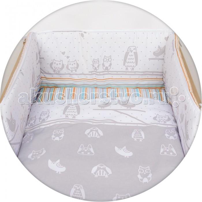 Постельное белье Ceba Baby Owls с принтом (3 предмета)Owls с принтом (3 предмета)Постельное белье Ceba Baby Owls с принтом (3 предмета) отвечает самым высоким стандартам качества.  Особенности: комплект постельного белья для детской кроватки;  ткань: 100% хлопок;  комплект украшен красочным принтом;  все используемые материалы сертифицированы в соответствии с Oeko-Tex® 100, класс I (текстильные изделия для детей).   В комплект входят:  пододеяльник 100х135 см;  наволочка 40х60 см;  мягкий бортик 200х32 см.<br>