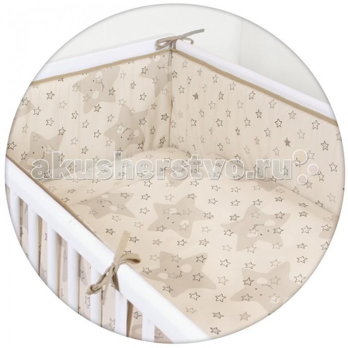 Постельное белье Ceba Baby Stars с принтом (3 предмета)Stars с принтом (3 предмета)Постельное белье Ceba Baby Stars с принтом (3 предмета) отвечает самым высоким стандартам качества.  Особенности: комплект постельного белья для детской кроватки ткань: 100% хлопок комплект украшен красочным принтом все используемые материалы сертифицированы в соответствии с Oeko-Tex® 100, класс I (текстильные изделия для детей)  В комплект входят:  пододеяльник 100х135 см наволочка 40х60 см мягкий бортик 200х32 см<br>
