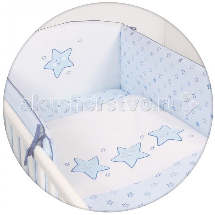 Постельное белье Ceba Baby Stars с вышивкой (3 предмета)Stars с вышивкой (3 предмета)Постельное белье Ceba Baby Stars с вышивкой (3 предмета) отвечает самым высоким стандартам качества.  Особенности: комплект постельного белья для детской кроватки ткань: 100% хлопок комплект украшен нарядной вышивкой чехол бортика – съёмный на молнии, разрешена машинная стирка в деликатном режиме все используемые материалы сертифицированы в соответствии с Oeko-Tex® 100, класс I (текстильные изделия для детей)  В комплект входят:  пододеяльник 100х135 см наволочка 40х60 см мягкий бортик 200х32 см<br>