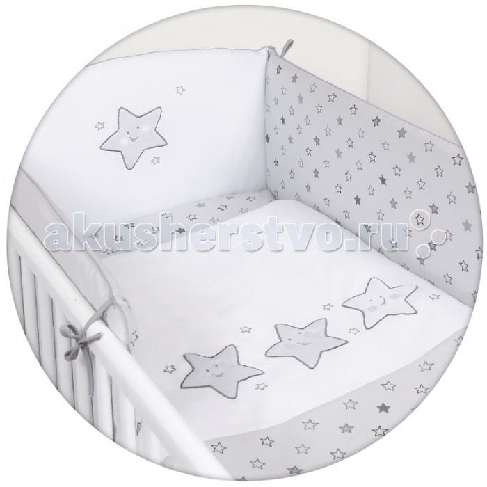 Постельное белье Ceba Baby Stars с вышивкой (3 предмета)