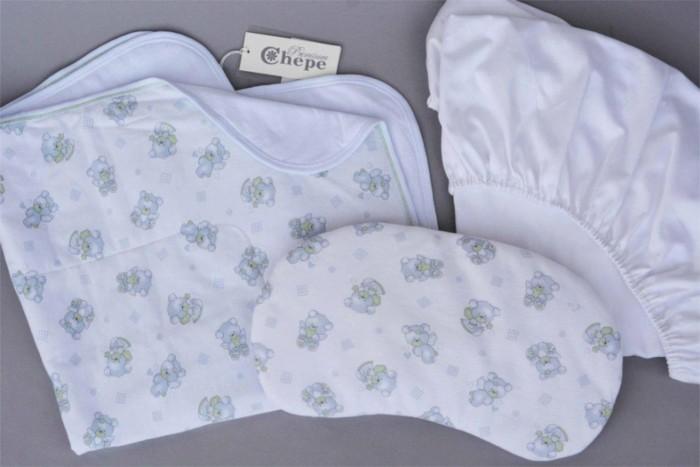 Комплект в кроватку Chepe Ловец снов (3 предмета)Ловец снов (3 предмета)Комплект в кроватку Chepe Ловец снов (3 предмета) для детей с рождения.  Все материалы натуральные, экологически чистые и не вызывают аллергии, что так важно при выборе постельного белья для самых маленьких. В сочетании с безукоризненным качеством пошива и прекрасным дизайном эти преимущества делают комплект замечательным вариантом для оформления спального места в детской комнате.  В комплекте: Плед Подушка-боб Простыня круглая 75 х 75 см Материал верха: 100% хлопок Материал подклада: 100% хлопок<br>