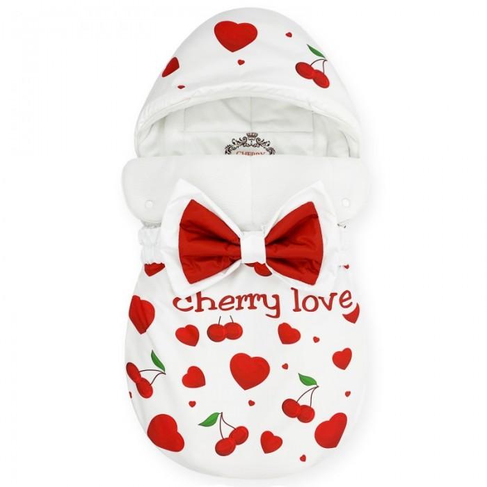 Фото - Конверты на выписку CherryMom Конверт на выписку Bambino Cherry Love (флис) одеяло конверт dolce bambino dolce blanket для новорожденных белый av71204