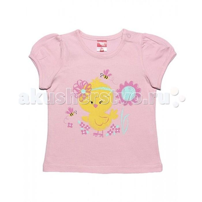 Футболки и топы Cherubino Футболка для девочки CSB 61292 футболка для мальчика cherubino цвет оранжевый csb 61558 145 размер 92