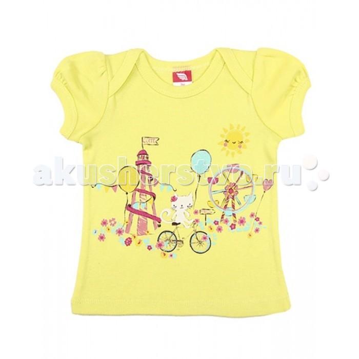 Футболки и топы Cherubino Футболка для девочки CSB 61293 футболка для мальчика cherubino цвет оранжевый csb 61558 145 размер 92