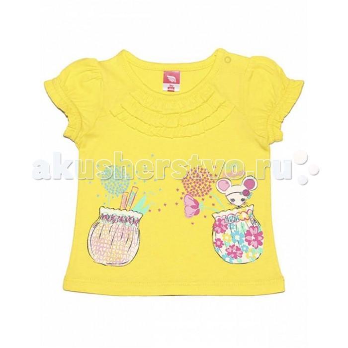 Футболки и топы Cherubino Футболка для девочки CSB 61291 футболка для мальчика cherubino цвет оранжевый csb 61558 145 размер 92
