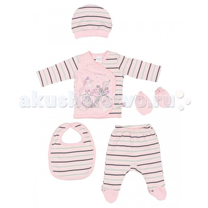 Комплекты детской одежды Cherubino Комплект для новорожденных для девочки (5 предметов)
