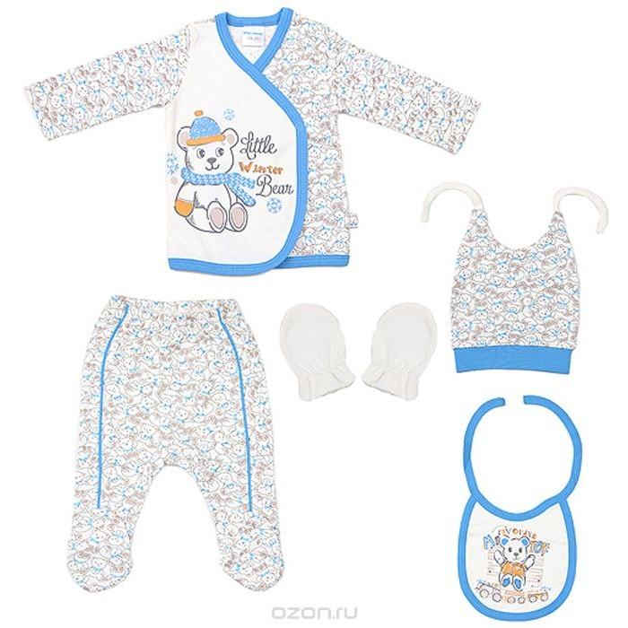 Комплекты детской одежды Cherubino Комплект для новорожденных для мальчика (5 предметов) cherubino свитер для мальчика
