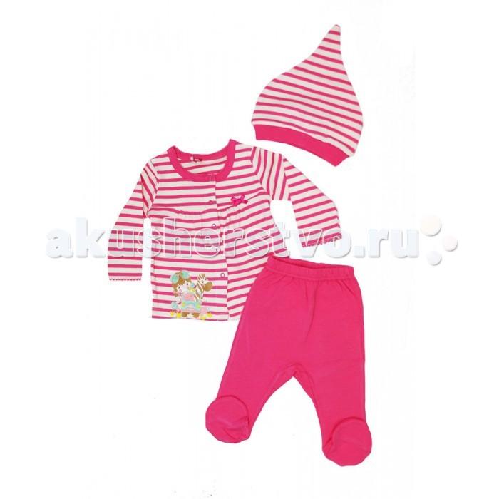 Комплекты детской одежды Cherubino Комплект ясельный для девочки (3 предмета) комплекты эротик pink lipstick комплект 3 предмета