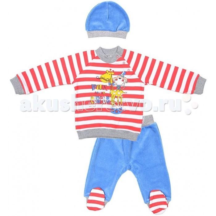 Комплекты детской одежды Cherubino Комплект ясельный для мальчика (3 предмета) комплекты детской одежды клякса комплект 4 предмета 55 5529