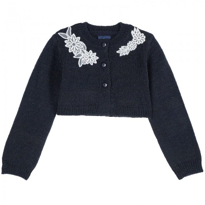 Пиджаки и жакеты Chicco Болеро для девочки с аппликацией комплект платье болеро ladetto комплект платье болеро