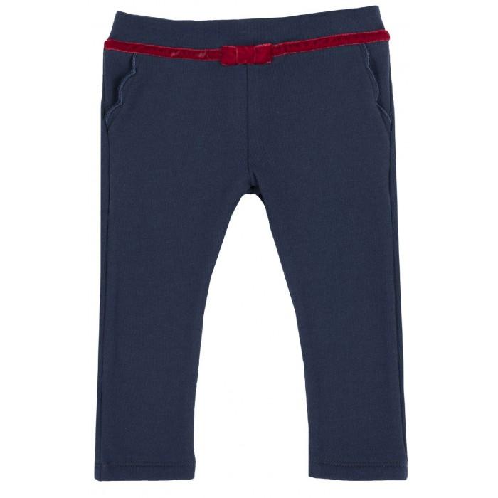 Брюки и джинсы Chicco Брюки для девочки с пояском с бантиком костюм санты с бантиком 42 44