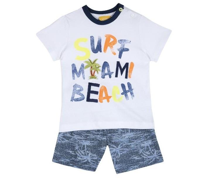 Комплекты детской одежды Chicco Комплект для мальчиков шорты и футболка Surf miami beach 09076416