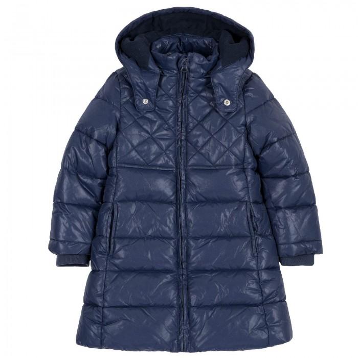 Chicco Куртка для девочек удлиненная тёмно-синий — купить в Санкт-Петербурге в Акушерство.ру