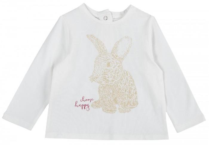 Купить Водолазки и лонгсливы, Chicco Лонгслив для девочки Блестящий зайчик