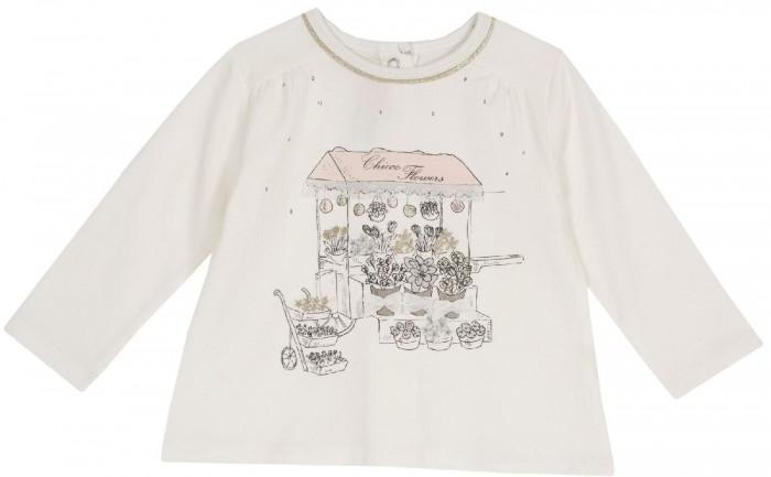 Купить Водолазки и лонгсливы, Chicco Лонгслив для девочки Цветочный киоск