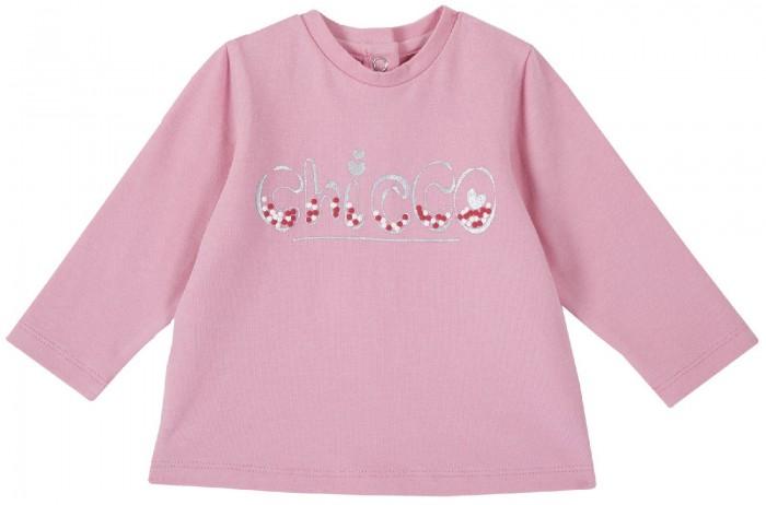 Купить Водолазки и лонгсливы, Chicco Лонгслив для девочки с надписью