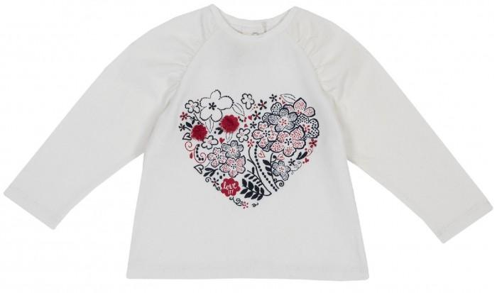 Купить Водолазки и лонгсливы, Chicco Лонгслив для девочки Сердце из цветов