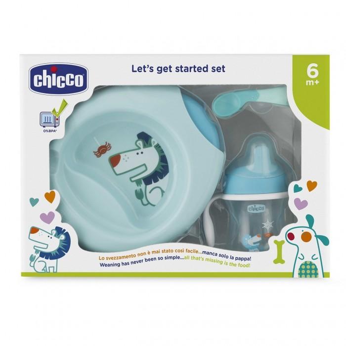 Chicco Набор детской посуды с 6 мес.Посуда<br>Chicco Набор детской посуды 6 мес. включает в себя чашку-поильник, термо-тарелку Stay Warm, ложку для малыша и тарелку из серии Easy Feeding. Он включает в себя все самое необходимо для того, чтобы приучать малыша к самостоятельному кормлению и делать это с интересом и удовольствием, ведь каждый элемент набор содержит развивающий рисунок, который позволит малышу кушать с удовольствием  Кормление никогда еще не было таким забавным! Особенно важно отметить, что благодаря термо-тарелке Stay Warm ваш малыш сможет кушать горячую еду долго благодаря специальному инновационному дизайну тарелки.  Бренд Chicco создан в Италии в 1958 году и уже 60 лет предлагает малышам и их мамам качественные и надежные товары для комфортного материнства.                     В наборе:      чашку-поильник термо-тарелку  ложку для малыша и тарелку
