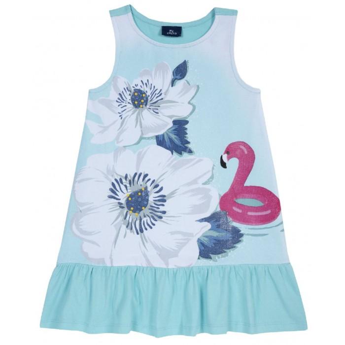 Платья и сарафаны Chicco Платье Цветы и фламинго