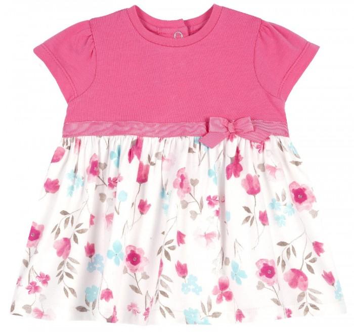 Платья и сарафаны Chicco Платье с цветами и бантиком
