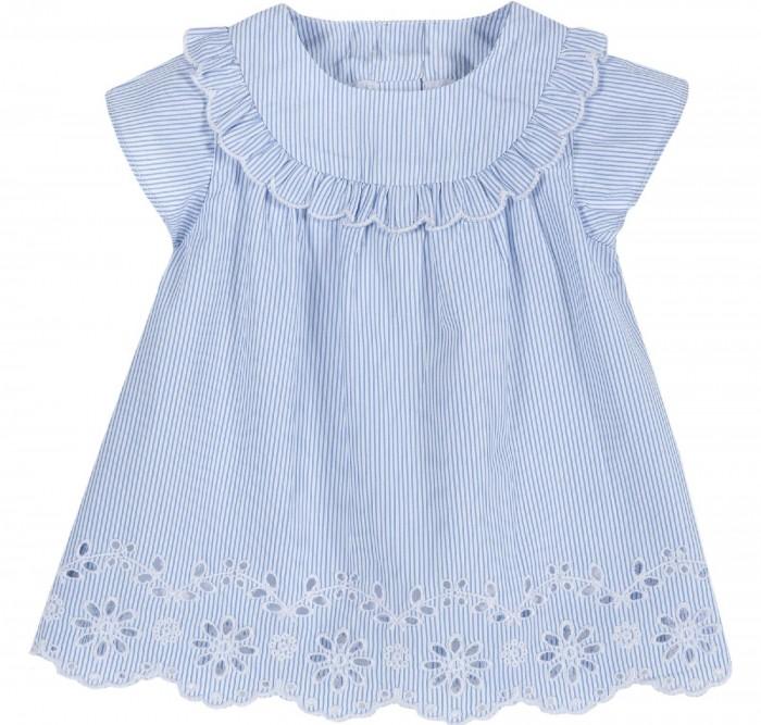 Платья и сарафаны Chicco Платье в полоску с вышивкой