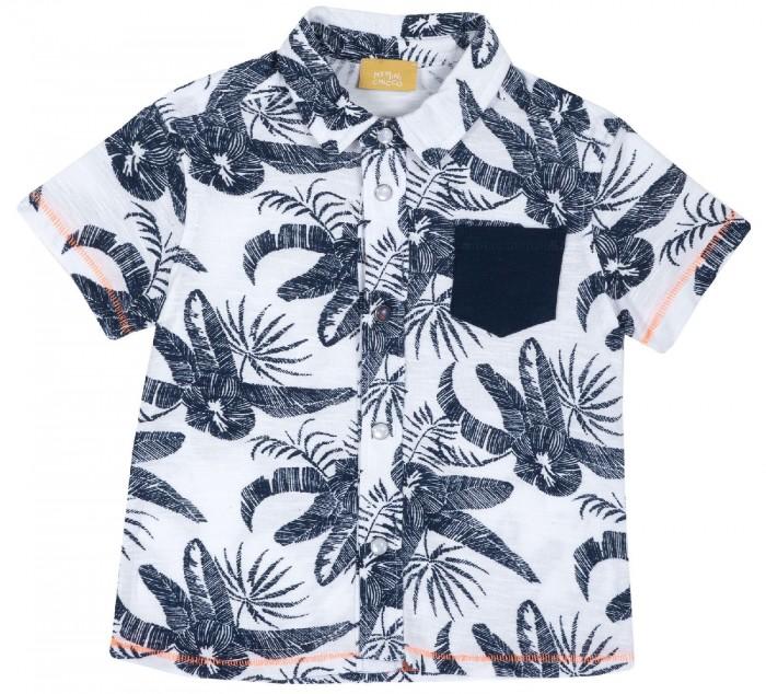 рубашка детская s cool рубашка для мальчика серо зеленая клетка Рубашки Chicco Рубашка для мальчика Гавайи
