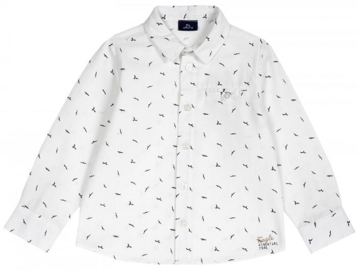 рубашка детская s cool рубашка для мальчика серо зеленая клетка Рубашки Chicco Рубашка для мальчика Птицы