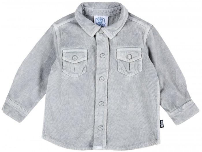 рубашка детская s cool рубашка для мальчика серо зеленая клетка Рубашки Chicco Рубашка для мальчика трикотажная