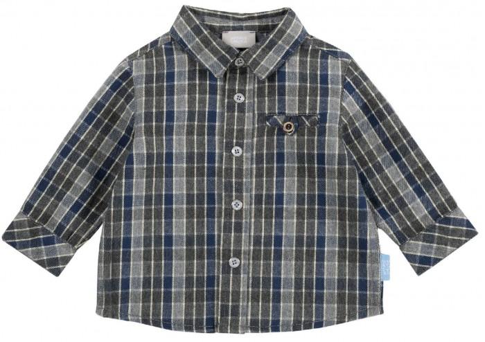 рубашка детская s cool рубашка для мальчика серо зеленая клетка Рубашки Chicco Рубашка для мальчика в клетку с кармашком