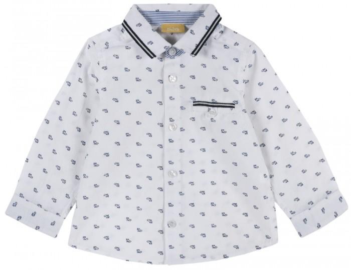 рубашка детская s cool рубашка для мальчика серо зеленая клетка Рубашки Chicco Рубашка для мальчика Вертолеты