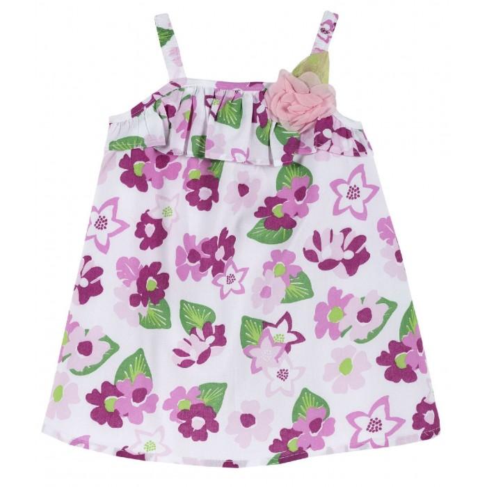 Платья и сарафаны Chicco Сарафан с оборкой и цветком