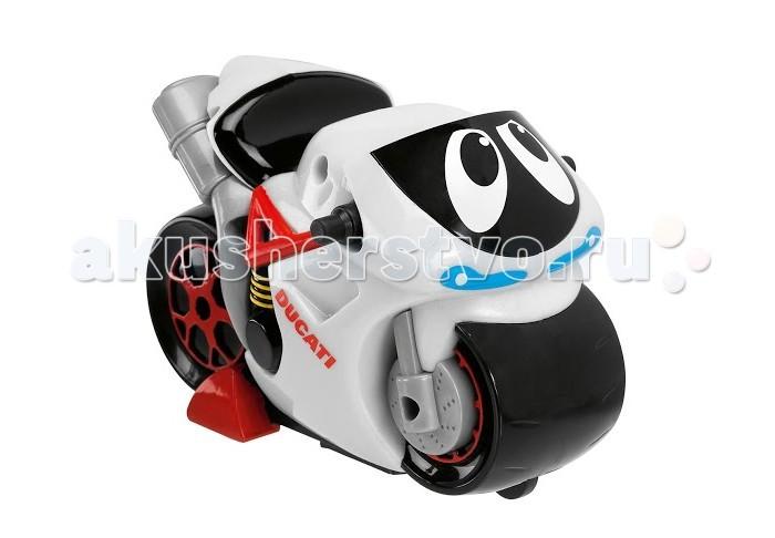 Chicco Турбо-мотоцикл DucatiТурбо-мотоцикл DucatiТурбо-мотоцикл Chicco Ducati. Этот мотоцикл идеален для маленьких любителей двухколесных игрушек. Подобно настоящему Ducati он приезжает первым: просто нажми на заднюю часть секции с сиденьем и он увеличит число оборотов, разгонится, мотор заревет и затем раздастся визг тормозов и мотоцикл остановится. Работает от батареек: 3хАА по 1,5 V.<br>