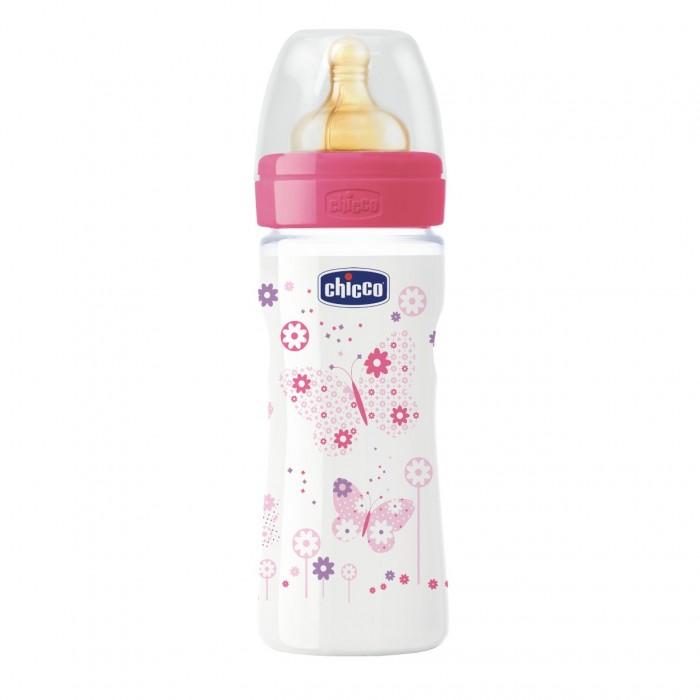 Бутылочки Chicco Wellbeing 250 мл латекс регулируемый поток бутылочки chicco wellbeing 150 мл силикон нормальный поток