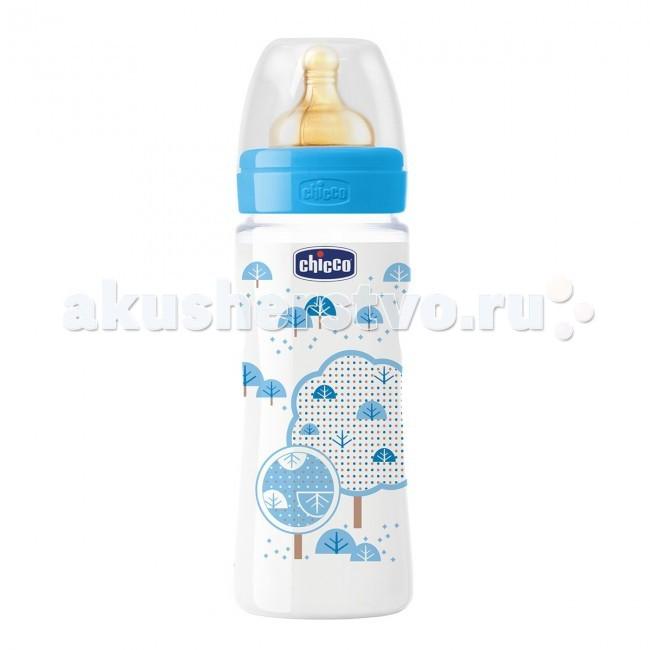 Бутылочки Chicco Wellbeing 330 мл латекс для каш бутылочки chicco wellbeing 150 мл силикон нормальный поток