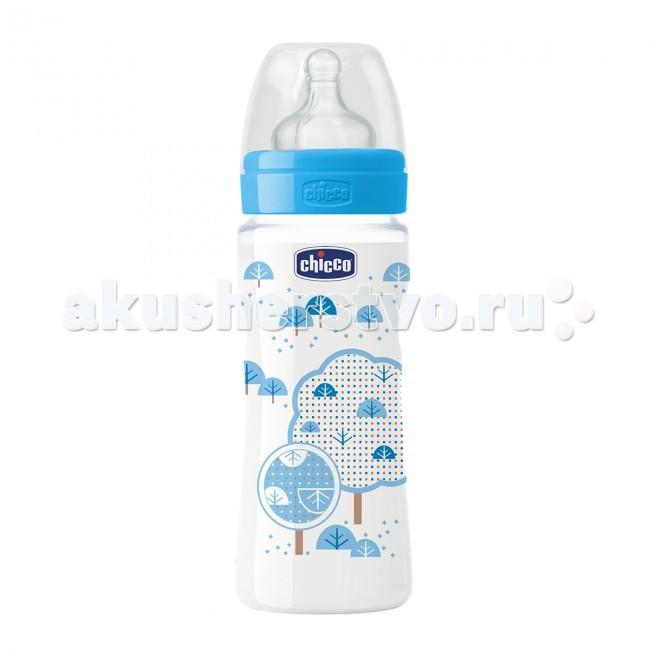 Бутылочки Chicco Wellbeing 330 мл силикон быстрый поток women wellbeing