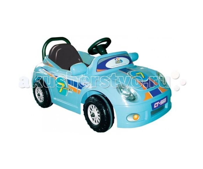 Электромобиль Chien Ti CT-568 Luxurious RoadsterCT-568 Luxurious RoadsterЭлектромобиль Chien Ti CT-568 Luxurious Roadster  предназначен для самых маленьких водителей. Внешне он напоминает спортивную машину. Благодаря пульту радиоуправления родители могут скорректировать направление машинки. Производители рекомендуют его использовать детям от 2-х лет. Электромобиль оснащён резиновыми накладками на колёсах, которые позволяют водителю комфортно управлять транспортным средством. Для начинающих малышей такое транспортное средство будет идеальным. Электромобиль имеет удобные двери, которые открываются. Любому малышу понравится машина, у которой есть музыкальное сопровождение. Заднее колесо является ведущим. Электромобиль оснащён 6V аккумулятором.   Ваш малыш с лёгкостью будет управлять транспортным средством, у которого есть две передачи: передняя и задняя. Максимальная скорость передней передачи, которую может развить машина составляет 3 км/ч. Такую же скорость машина может разогнать и на задней передаче. Время полной зарядки аккумулятора составляет 10-15 часов. Ваш малыш сможет преодолеть подъём с уклоном не более 7%. А какому мальчику не понравится беспрерывное катание на машине в течении полутора часа! В комплект вместе с электромобилем входит аккумулятор, зарядное устройство, а так же комплект наклеек. Максимально допустимая нагрузка на электромобиль составляет 25 кг.<br>